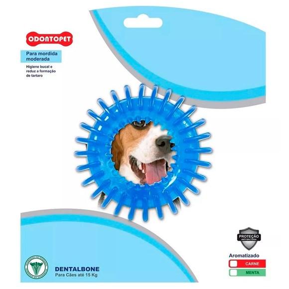 Brinquedo Mordedor Dental Argola Espacial Azul Cães Até 15Kg Odontopet