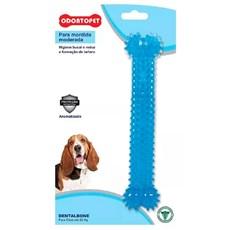 Brinquedo Mordedor Dentalbone Cães Até 22kg Azul Odontopet