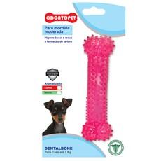 Brinquedo Mordedor Dentalbone Cães Até 7Kg Rosa Odontopet