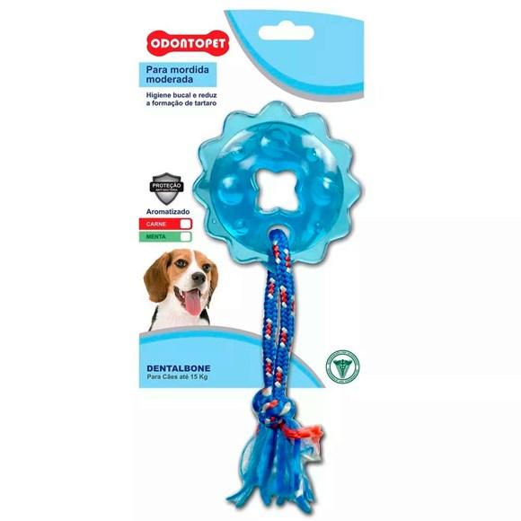 Brinquedo Mordedor Dentalbone Estrela/Corda Cães Até 15Kg Odontopet