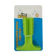 Brinquedo Mordedor Escova Dental Verde Napi Tam:M