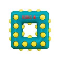 Brinquedo Mordedor Kong Dotz Square para Caes Verde Grande