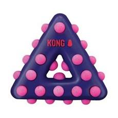 Brinquedo Mordedor Kong Dotz Triangle para Cães Roxo Grande