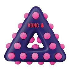 Brinquedo Mordedor Kong Dotz Triangle Para Caes Roxo Pequeno