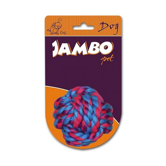 Brinquedo Mordedor para Cachorro Bola com Corda P Jambo