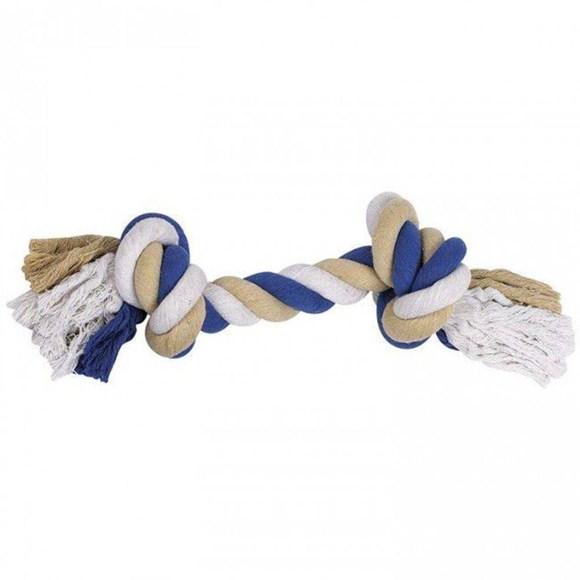 Brinquedo Mordedor para Cachorros Bone Dental Corda Azul P Jambo