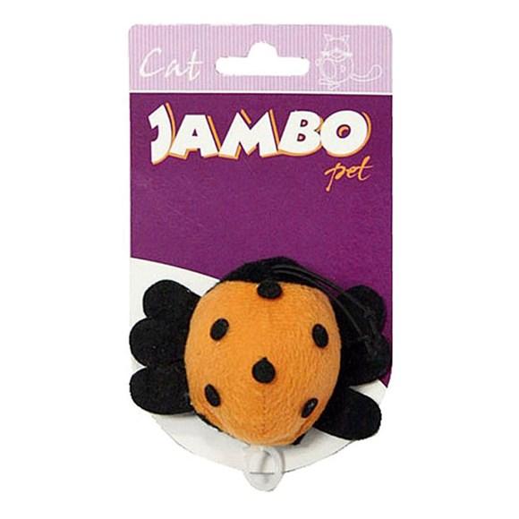 Brinquedo Mordedor para Gatos Joaninha de Pelucia Vibratoria Jambo