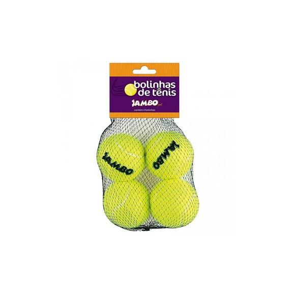Brinquedo para Cachorro Bola de Tenis Jambo 4 Unidades