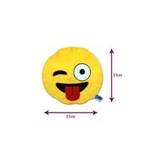 Brinquedo para Cachorro Emoticon de Pelucia Lingua pra Fora Duki