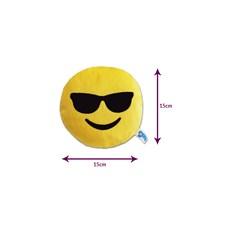 Brinquedo para Cachorro Emoticon de Pelúcia Óculos Escuros Duki