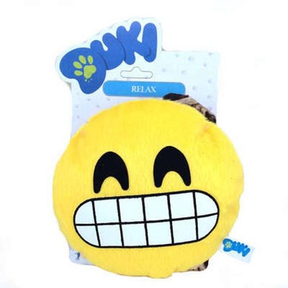 Brinquedo para Cachorro Emoticon de Pelucia Sorriso Duki