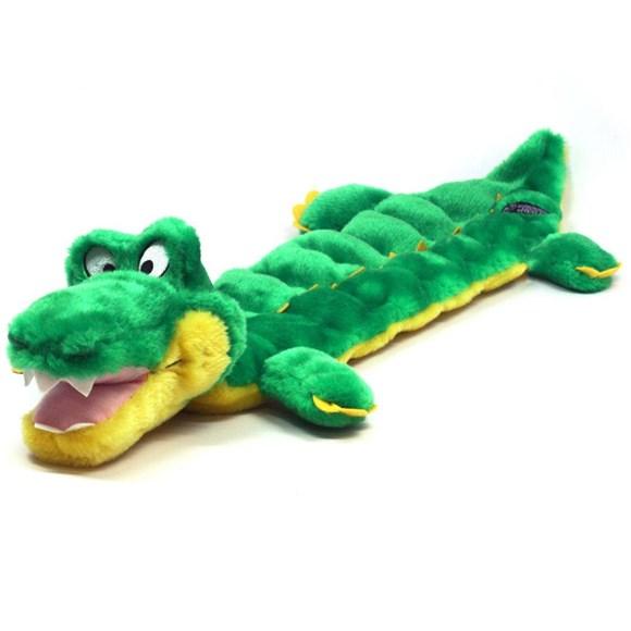 Brinquedo para Cachorro Morder com Apito Jacare GRANDE Mega Squeaker