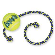Brinquedo para Cachorro Morder Kong Squeakair Ball Rope Medium AST21