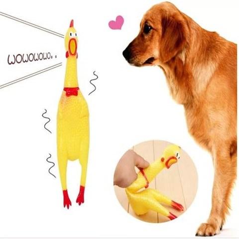 Brinquedo Para Cachorros Frango Sonoro Gritador Grande 39cm