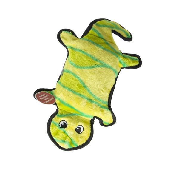 Brinquedo para Caes Lagartixa de Pelucia Invincibles Amarelo/Verde