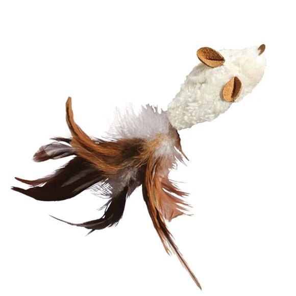Brinquedo para Gato Arranhar Morder Cacar com Catnip Kong Feather