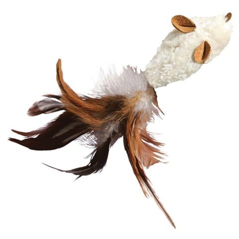 Brinquedo para Gato Arranhar Morder Caçar com Catnip Kong Feather
