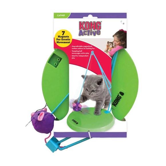 Brinquedo para Gato Morder Cacar Kong Puzzle Sway'n Play Verde CA425