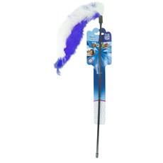 Brinquedo para Gato Morder Varinha Pompom Azul