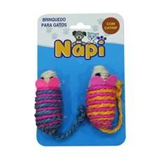 Brinquedo Para Gatos Ratinho Sisal Napi C/2 Unidades
