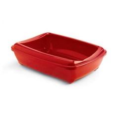 Caixa de Areia para Gatos Bandeja Higienica Tray Jumbo Vermelha Jambo