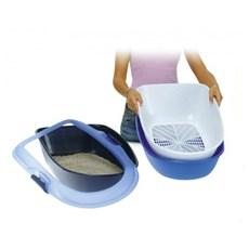 Caixa De Areia Para Gatos Furba Bandeja Higiênica Azul