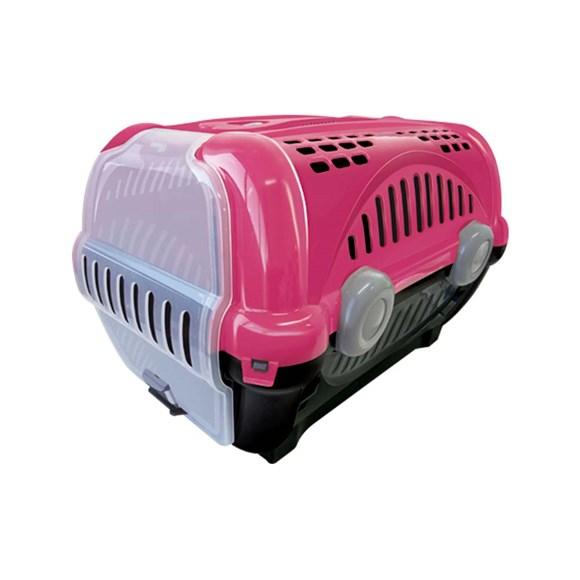 Caixa De Transporte Furacão Pet Luxo Rosa - Nº1