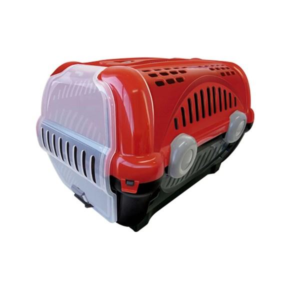 Caixa De Transporte Furacão Pet Luxo Vermelho - Nº2