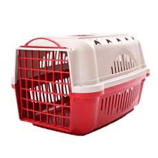Caixa De Transporte Para Cães E Gatos Durapets Falcon N.1 Vermelha