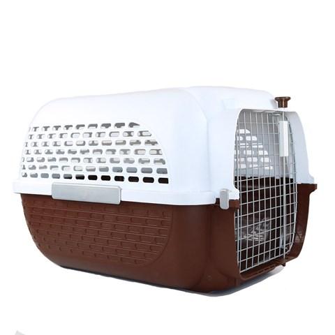 Caixa de Transporte Pet Voyageur marrom p/ pet com altura máx 40,6cm