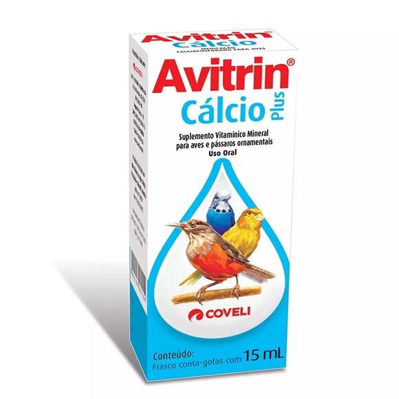 Cálcio Coveli Avitrin Pássaros - 15ml