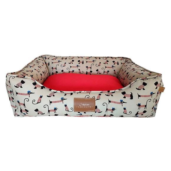Cama Cães e Gatos Fábrica Pet Bistrô Vermelho Tam.P