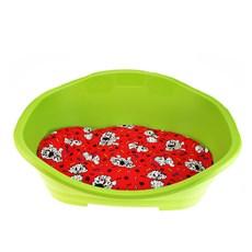 Cama Plástica Com Almofada Para Cães Tamanho 3 Verde - Chalesco