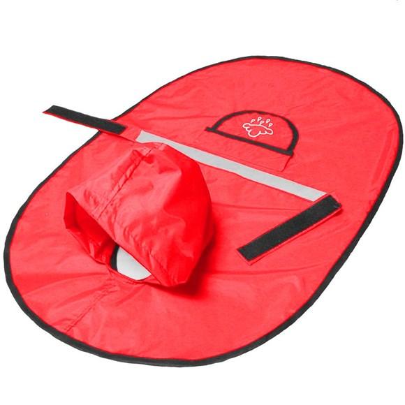 Capa de Chuva para Cachorro Agridoce Vermelha