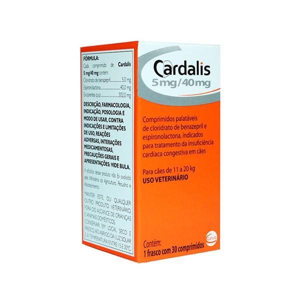 Cardalis Para Caes 11 a 20kg C/30 Comprimidos - Ceva