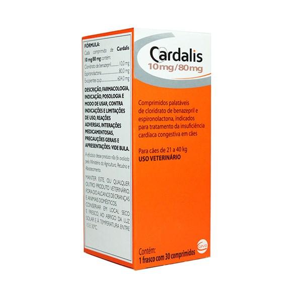 Cardalis Para Caes 21 a 40kg C/30 Comprimidos - Ceva