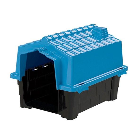 Casinha De Cachorro Eco Grande De Plastico Desmontavel N2 Azul