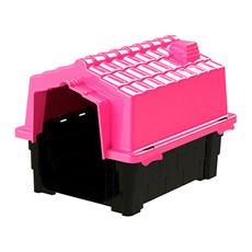 Casinha De Cachorro Pequena De Plástico N1 Rosa Eco