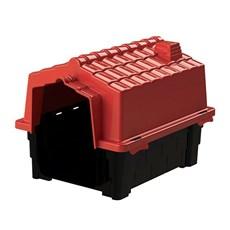 Casinha De Cachorro Pequena De Plástico N1 Vermelho Eco