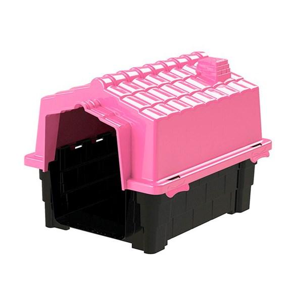 Casinha De Cachorro Prime Grande De Plastico Desmontavel N2 Pink