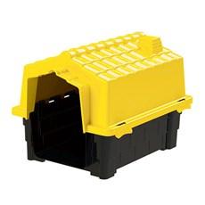Casinha De Cachorro Prime Pequena De Plástico Desmontável N1 Amarelo