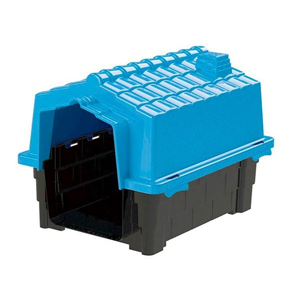 Casinha De Cachorro Prime Pequena De Plastico Desmontavel N1 Azul Claro