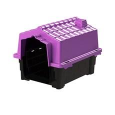 Casinha De Cachorro Prime Pequena De Plástico Desmontável N1 Lilás