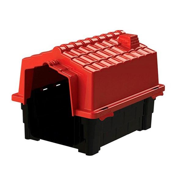 Casinha De Cachorro Prime Pequena De Plastico Desmontavel N1 Vermelho