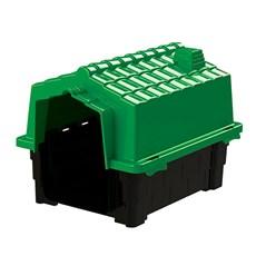 Casinha De Cachorro Prime Pequena De Plastico Desmontavel N2 Verde