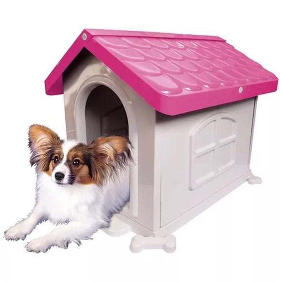Casinha Para Caes Eco Colors Dog House Evo N3 Rosa
