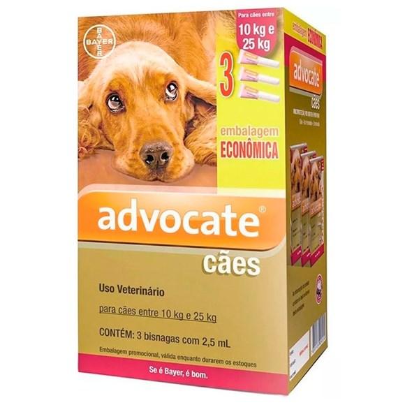 Combo Antipulgas Advocate Cães 10Kg Até 25Kg