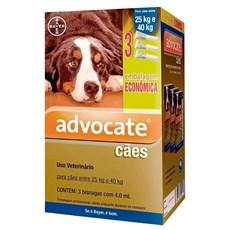 Combo Antipulgas Advocate Cães 25Kg Até 40Kg