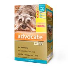 Combo Antipulgas Advocate Cães 4Kg Até 10Kg