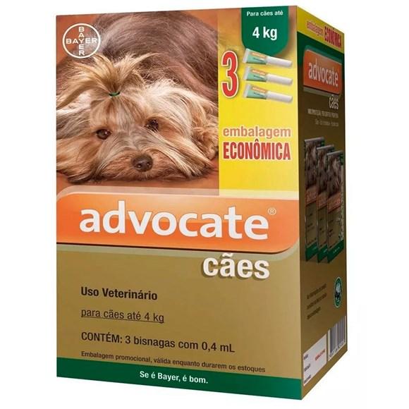 Combo Antipulgas Advocate Cães Até 4Kg